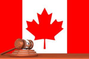 Gavel with Flag Of Canada