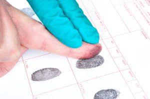 Fingerprinting a DUI offender